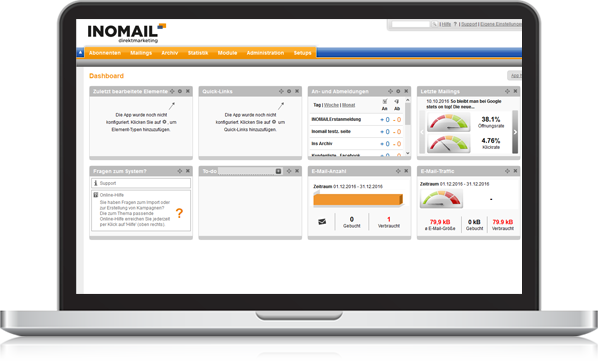 INOMAIL direktmarketing Laptop